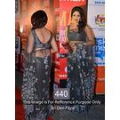 Kmozi Sri Devi Floral Designer Saree, gray