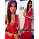 Kmozi Bipasha Rose Designer Saree, red