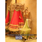 Kmozi Designer Lehenga Choli, orange