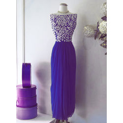 Kmozi Designer Georgette Embroide Kurti, blue