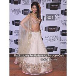 Kmozi Bollywood Replica Designer Lehenga, cream