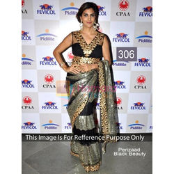 Kmozi Beauty Bollywood Replica Saree, black