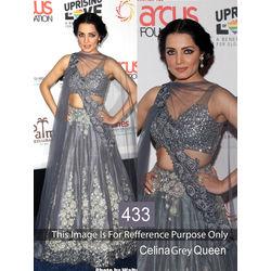 Kmozi Celina Queen Designer Lehenga Choli, gray