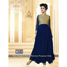 Kmozi Fancy Designer Anarkali Suit, blue