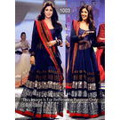 Kmozi Shilpa Floor Touch Anarkali Suit, blue