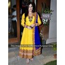 Kmozi Zarine Khan Latest Designer Anarkali Dress, yellow