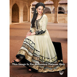Kmozi Designer Anarkali Suit, off white