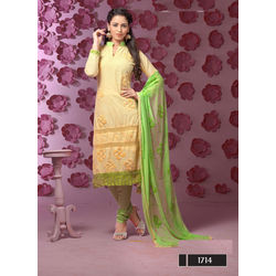 Kmozi Attractive New Arrival Churidar Dress Material, yellow