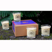 Indie Eco Candles - Set of 4 Small Candles, Assorted Fragrances - 590 Gms, assorted fragrance