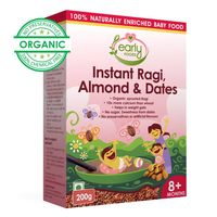 Early Foods Instant Ragi Almond & Date Porridge Mix 200g