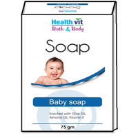 Healthvit Bath & Body Baby Soap (Olive, Vitamin E & Almond Oil) 75g