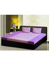 India Furnish Double Bedsheet Set With 2 Pillow Covers (IFBST15007), purple