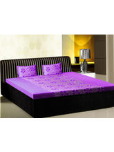 India Furnish Double Bedsheet Set With 2 Pillow Covers (IFBST15008), purple