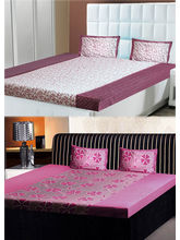 India Furnish Double Bedsheets With Pillow Covers Combo Of 2 Sets (IFBST15246), multicolor