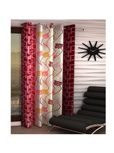 India Furnish Eyelet Polyester Curtain Long Door Length - Set Of 1 Pcs (IFCUR15022La), maroon