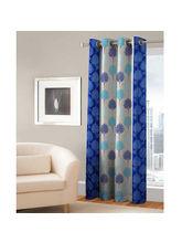 India Furnish Eyelet Polyester Curtain Window Length - Set Of 1 Pcs (IFCUR15043Wa), turquoise