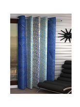 India Furnish Eyelet Polyester Curtain Window Length - Set Of 1 Pcs (IFCUR15101Wa), blue