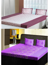 India Furnish Double Bedsheets With Pillow Covers Combo Of 2 Sets (IFBST15228), multicolor