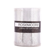 Rosemoore Decal LED Candle, Silver