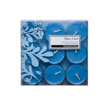 Rosemoore Oud Scented Tea Lights, blue