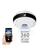 Smiledrive Panoramic Wifi Ip CCTV Security Cam 360° 960P HD Fish Eye View With Two-Way Talk, Night Vision Ir Cut And More