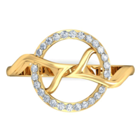 RING (LJRG077), 9, 14k, hi-vs/si