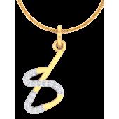 NUMBER PENDANT (LJNP511), 14k, ef-vvs, yellow rose white