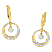 EARRING (LJER0090), 18k, hi-vs/si