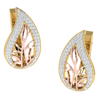 EARRING (LJER0088), 14k, hi-vs/si