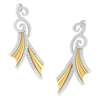 EARRING (LJER0091), 18k, hi-vs/si