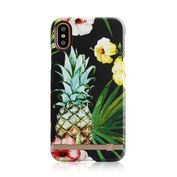 UUNIQUE IPHONE X BACK CASE TROPICAL PINEAPPLE,  black