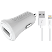 EVEREADY LIGHTNING CAR CHARGER 2.4A WHITE