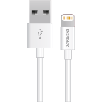 EVEREADY LIGHTNING CABLE 1M,  white