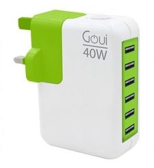 GOUI UK WALL PLUG WITH 6 USB PORT