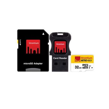 STRONTIUM 32GB NITRO MICROSD 466X UHS1 (3IN1)