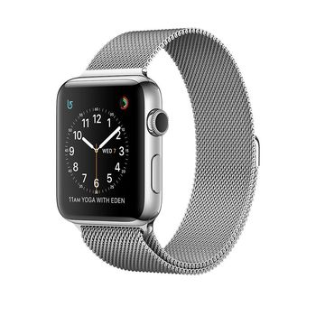 APPLE WATCH SERIES 2 42MM STAINLESS STEEL MILANESE LOOP SILVER MNPU2