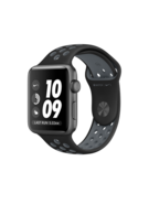 APPLE WATCH NIKE+ SERIES 2 42 MM SPACE GRAY ALUMINUM CASE WITH BLACK/COOL GRAY NIKE SPORT BAND MNYY2