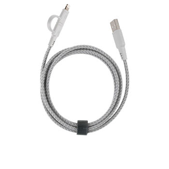 ENERGEA NYLOTOUGH CHARGE & SYNC LIGHTNING CABLE 1.5M,  white