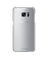 SAMSUNG GALAXY S7 EDGE CLEAR BACK COVER SILVER,  silver