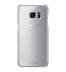 SAMSUNG GALAXY S7 EDGE CLEAR BACK COVER SILVER,  فضي