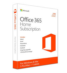 MICROSOFT OFFICE 365 HOME - 5 USERS OFFICE SUBSCRIPTION