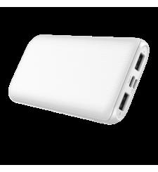 ماي كاندي شاحن متنقل 10000 مللي آمبير SLIM منفذ USB مزدوج و مدخل \ مخرج نوع-C ,  أبيض