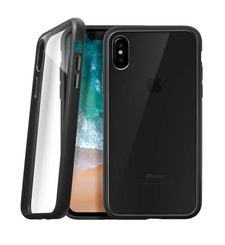 LAUT IPHONE X BACK CASE ACCENTS,  black