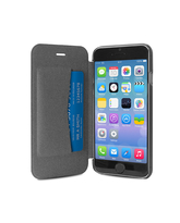 "PURO IPHONE 6 4.7"" ECO-LEATHER COVER with horiz. flip+ CARD SLOT,  black"