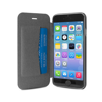 PURO IPHONE 6 4.7  ECO-LEATHER COVER WITH HORIZ. FLIP+ CARD SLOT,  silver