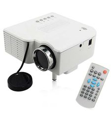 ZAKK UC28 PRO HDMI PORTABLE MINI LED HOME PROJECTOR,  white