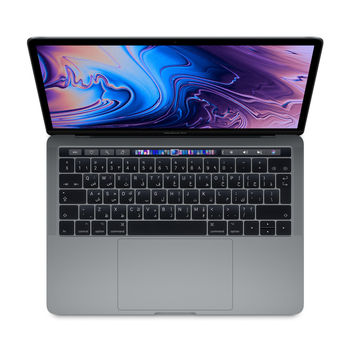 APPLE MACBOOK PRO 2018 MR9Q2 SPACE GREY I5 8TH GEN. 2.3 QUAD CORE 8GB 256GB INTEL IRIS PLUS GRAPHICS 655 TB & ID RETINA DISPLAY WITH TT 13 INCHES ENGLISH / ARABIC