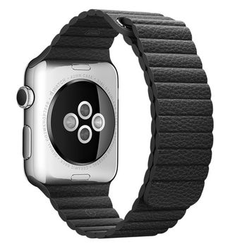APPLE WATCH SERIES 1 42MM STAINLESS STEEL CASE WITH STONE LEATHER LOOP MJ432AE/A