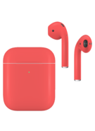 APPLE AIRPODS SECOND GEN WIRELESS PAINTED SPECIAL EDITION,  coral orange, matte