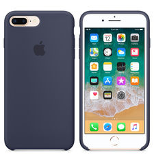 APPLE IPHONE 8 PLUS SILICONE CASE,  midnight blue